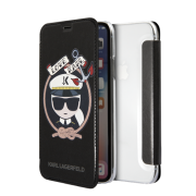 Karl Lagerfeld Karl Lagerfeld Karl Sailor Cover for iPhone X-XS - Silver