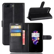 Taltech Litchi PU-Leather Cover for OnePlus 5 - Black
