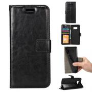 Taltech Crazy Horse Wallet Cover Samsung Galaxy S8 Plus - Black