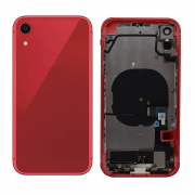 iPhone XR Complete Back Cover Glass with Frame - Red