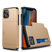 Taltech Case with Card Holder for iPhone 12 Mini - Gold