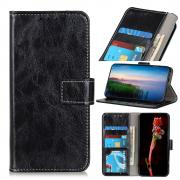 Taltech Crazy Horse Wallet Case for iPhone 13 - Black