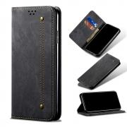 Taltech Jeans Cloth Wallet Case for iPhone 13 Pro - Black