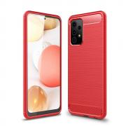 Taltech Carbon Fiber Brushed Case for Samsung Galaxy A52 4G/5G - Red