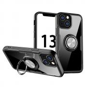 Taltech Kickstand Case with Ringholder for iPhone 13 - Silver