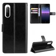 Taltech Crazy Horse Wallet Cover for Sony Xperia 10 II - Black