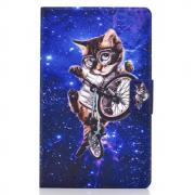 "Taltech Cover for Galaxy Tab A7 10.4"" 2020 - Cycling Cat"
