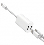 SiGN SiGN iPhone 7/8 / X adapter 5V, 2A - Listen to music & charge at the same time