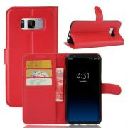 Taltech Wallet Cover for Samsung Galaxy S8 Plus - Red