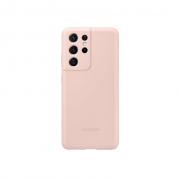 Samsung Samsung Silicone Cover for Samsung Galaxy S21 Ultra 5G - Pink