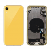 iPhone XR Complete Back Cover Glass with Frame - Yellow