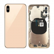 OEM iPhone XS Complete Back Cover Glass with Frame - Gold