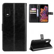 Taltech Crazy Horse Wallet Cover for Galaxy Xcover Pro - Black