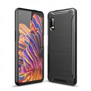 Taltech Carbon Fiber Cover for Galaxy Xcover Pro - Black