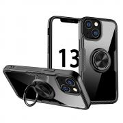 Taltech Kickstand Case with Ringholder for iPhone 13 - Black