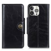 Taltech Wallet Case in Leather for iPhone 13 Pro - Black