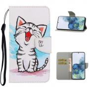 Taltech Wallet Cover for Samsung Galaxy S21 Ultra 5G - Cute Cat