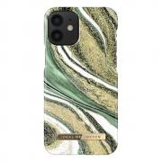 iDeal of Sweden iDeal Fashion Case for iPhone 12 Mini - Cosmic Green Swirl