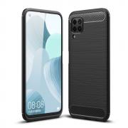 Taltech Brushed Case with Carbon Fiber-design for Huawei P40 Lite - Black