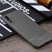 Taltech IPAKY Carbon Fiber design Case for Huawei P20 Pro - Grey
