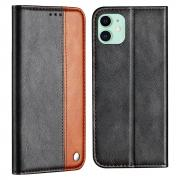 Taltech Business Style Wallet Case for iPhone 13 - Brown