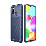Taltech Carbon Fiber Case for Samsung Galaxy A21s - Blue