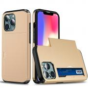 Taltech IPhone 13 mini case with card holder- Gold