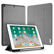 Dux Ducis Tri-Fold Leather Cover for iPad 9.7 2018 - Grey