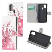 Taltech Wallet Cover for Samsung Galaxy A21s - Plum Blossom