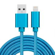 SiGN USB cable Lightning for iPhone & iPad Blue/Nylon, 3m