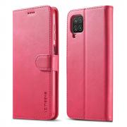 Taltech LC.IMEEKE Wallet Cover for Samsung Galaxy A12 5G - Pink