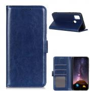 Taltech Crazy Horse Wallet Cover for OnePlus Nord N10 - Blue