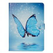 "Taltech Wallet Cover for Samsung Galaxy Tab A 10.1"" 2019 - Blue Butterfly"