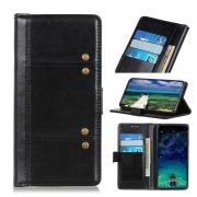 Taltech Crazy Horse Wallet Case in Leather for iPhone 13 Pro - Black