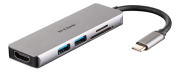 D-Link D-Link 5?in?1 USB?C Hub with HDMI and SD/microSD Card Reader