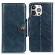 Taltech Wallet Case in Leather for iPhone 13 Pro - Blue