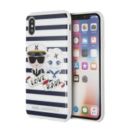 Karl Lagerfeld Karl Lagerfeld Sailor Stripes Case for iPhone X-XS - Blue