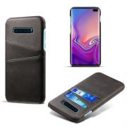 Crazy Horse Case with 2 Cardslots for Samsung Galaxy S10 Plus - Black