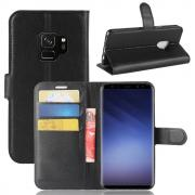 Ltch PU-Leather Cover for Samsung Galaxy S9 - Black