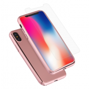 360° Case for iPhone X/XS - Rosegold