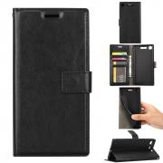 Crazy Horse Cover for Sony Xperia XZ1 - Black