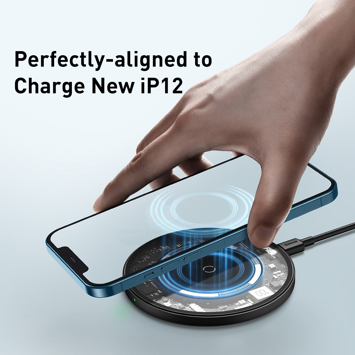 Baseus Baseus Simple Magnetic Wireless Charger for iPhone 12 - Transparent